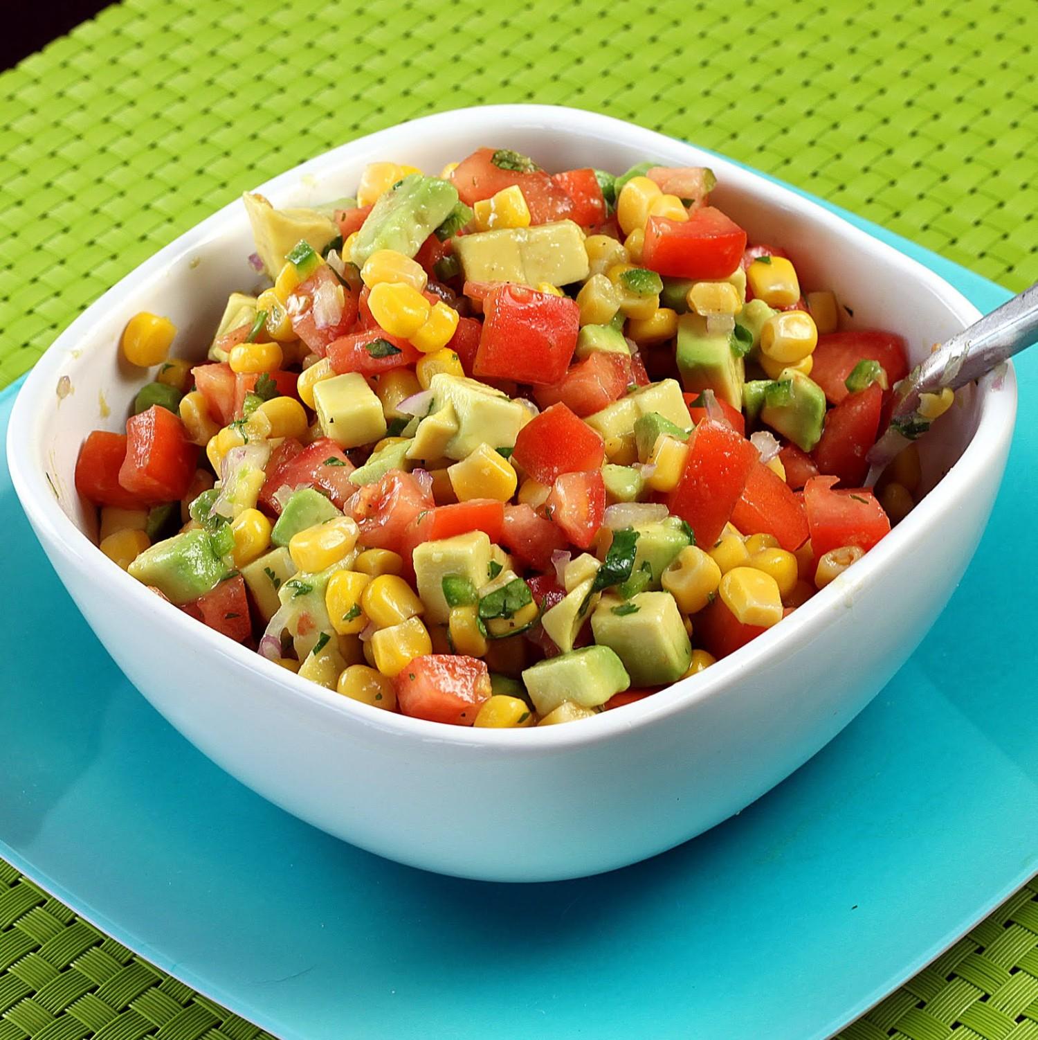 Tomato-Corn-Avocado Salsa – EVERYTHiNG SOULFuL