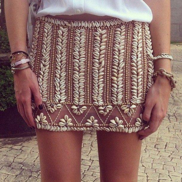 cowrieshell skirt