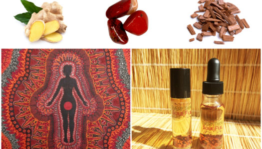 GROUNDING Infused with Red Jasper Crystal Aromatherapy Potion