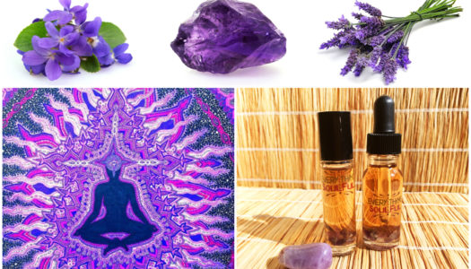 INTUITION Infused with Amethyst Crystal Aromatherapy Potion