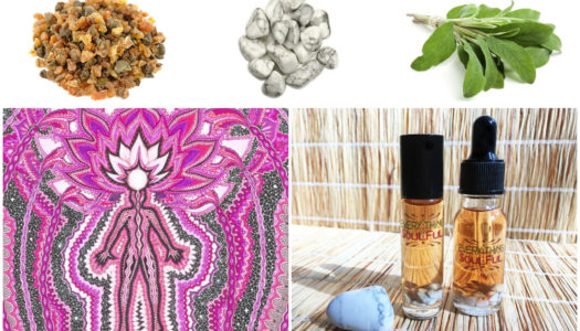 ENLIGHTENMENT Infused with Howlite Crystal Aromatherapy Potion