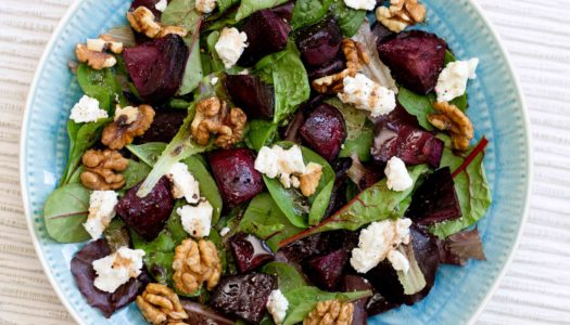 Beets, Goat Cheese and Walnut Salad