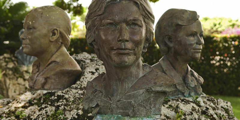 Busts of the Mirabal sisters at the museum in the village of Salcedo, 150 km north of Santo Domingo on June 10, 2008. The Mirabal sisters were assasinated in 1960 during the dictatorial regime of Leonidas Trujillo.